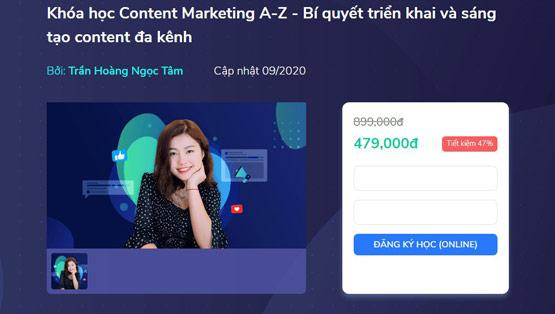 Khóa học Content Marketing A-Z – Bí quyết triển khai và sáng tạo content đa kênh