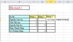 Cách link dữ liệu từ file excel này sang file excel khác