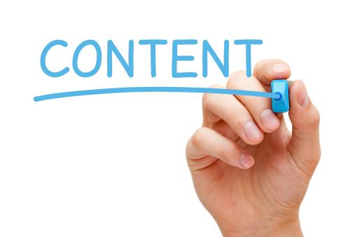 Content Blue Marker