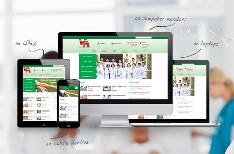 Thiết kế website bệnh viện, phòng khám