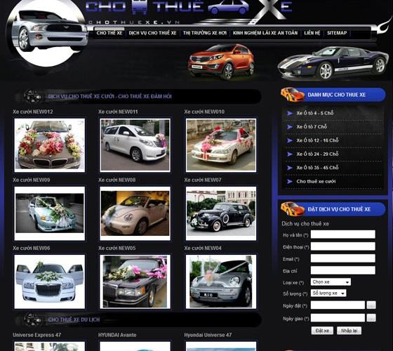 Thiết kế website cho thuê xe ô tô